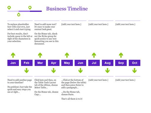 Simple Timeline Template Datariouruguay