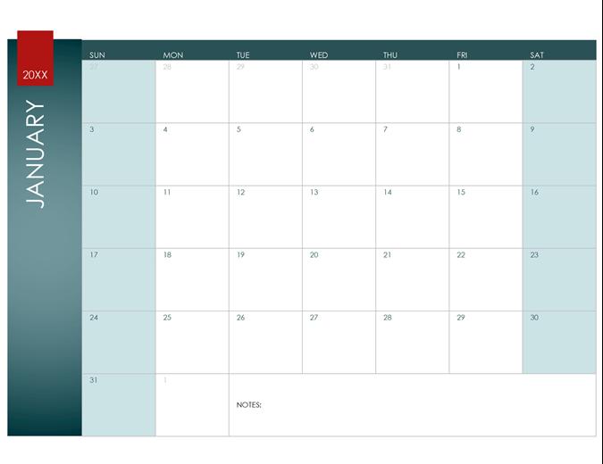 Calendar Template 2015 Excel