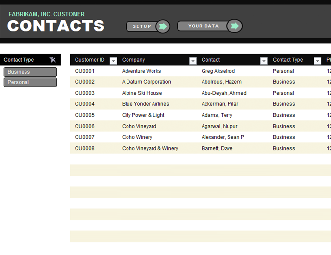 Contact List Template Solarfm