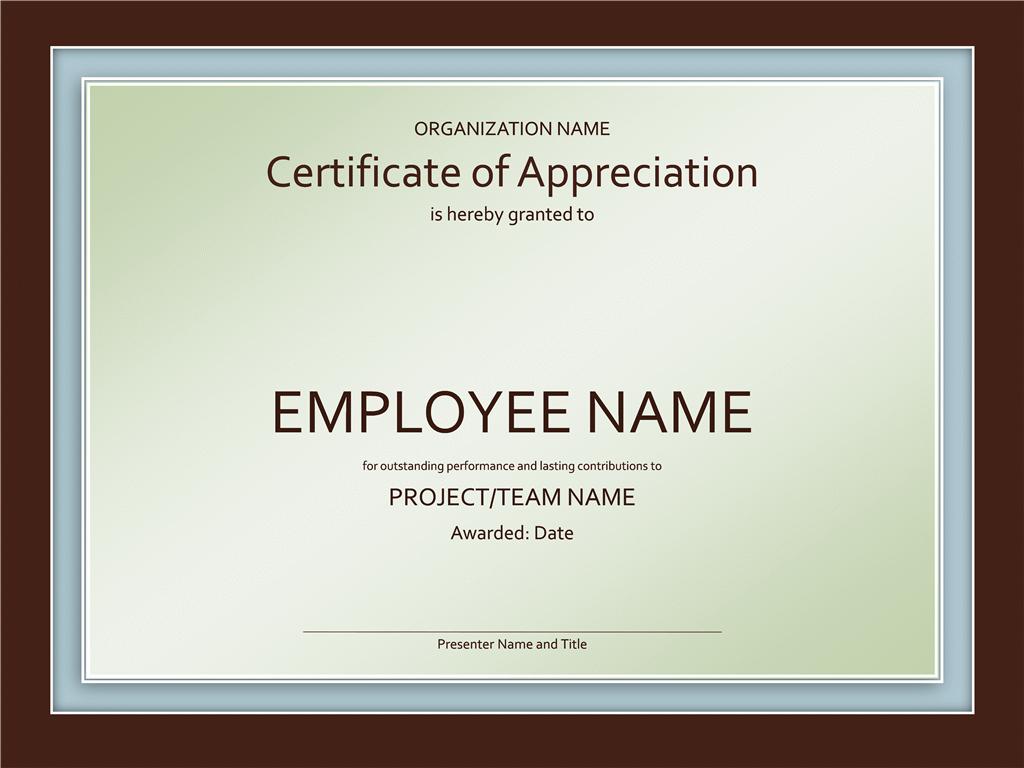 recognition certificate template | trattorialeondoro