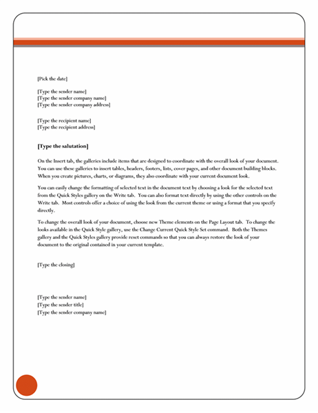 Business letter format template for word letter format in word best template collection spiritdancerdesigns Choice Image