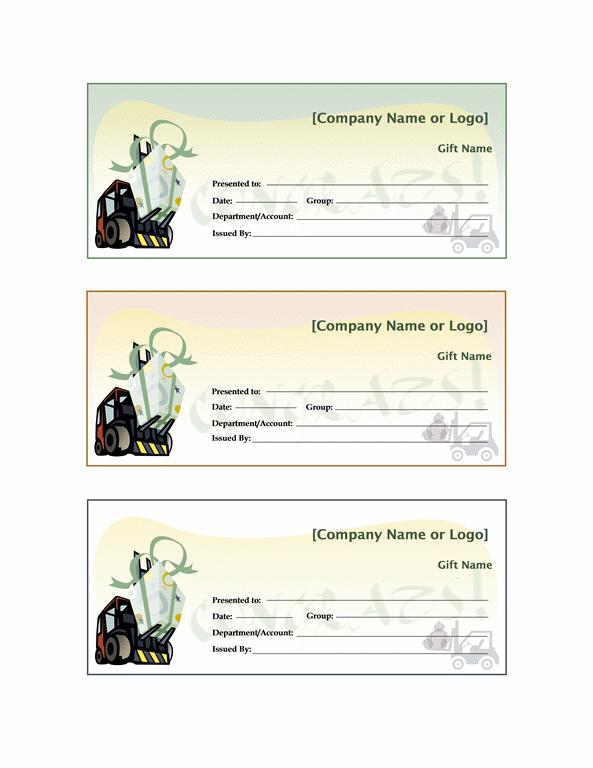 Office Gift Certificate Template Trattorialeondoro