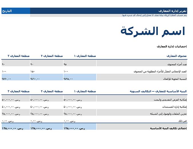 تقرير إدارة المعارف