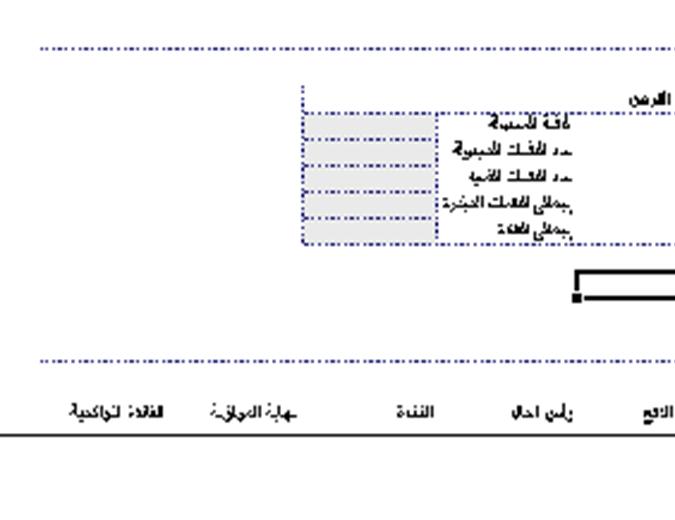 جدول أقساط تسديد القرض