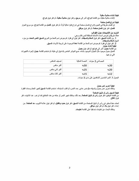 تقرير أعمال (سمة احترافية)