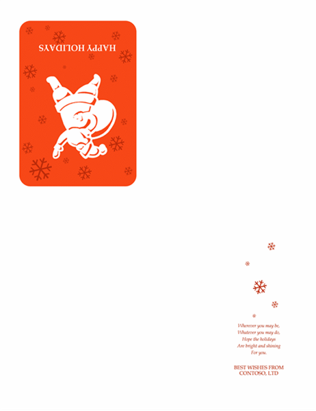 بطاقة عطلة (مع سانتا)
