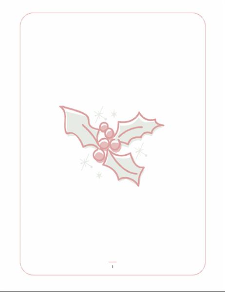 قرطاسية العطلة (ذات علامة مائية لورقة نبات الإيلكس)