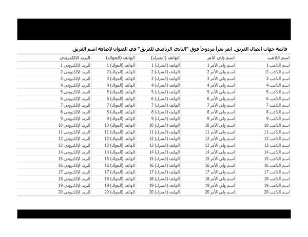 قائمة جهات الاتصال