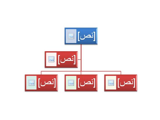 رسم SmartArt لمخطط هيكلي بصور