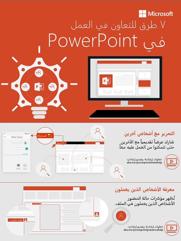 7 طرق للتعاون في العمل في PowerPoint