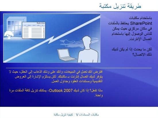 عرض تقديمي للتدريب: SharePoint Server 2007—مكتبات المستندات V: كيفية تنزيل مكتبة مستندات
