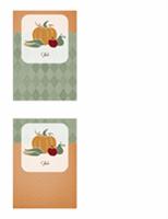 بطاقة شكر (تصميم الحصاد)