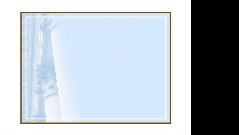 Шаблон на макет с коринтски колони