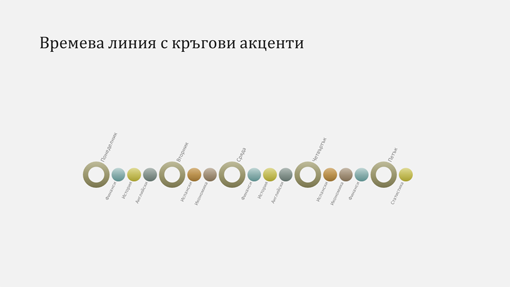 Слайд с диаграма на времева линия на събитие (широк екран)
