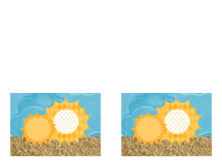 Покана  (модел със слънце и пясък)