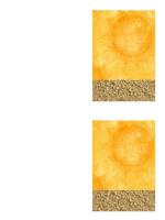 Картичка за благодарност (модел със слънце и пясък)