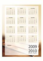 Календар за учебната 2009-2010 година (1 стр., пон.-пет.)