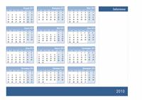 Календар за 2010 г. с място за бележки (1 стр.)