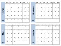 Календар за 2010 г. със синя рамка (3 стр.)