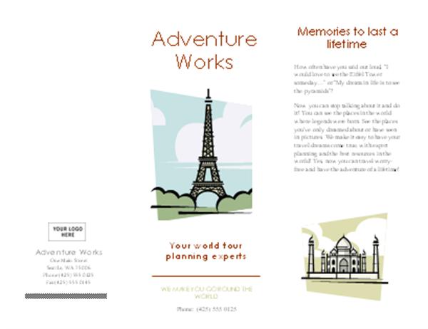 Katalog zájezdů (8,5 x 14, na šířku, skládací)
