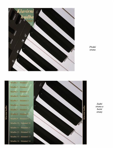 Vložka do obalů disků CD (klavírní hudba)