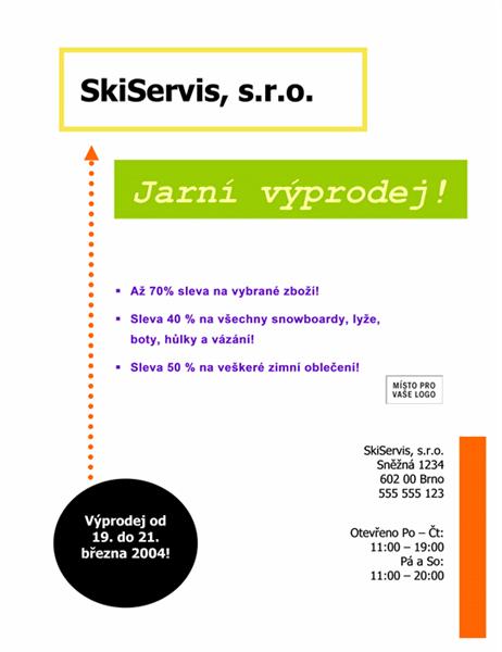 Oznámení výprodeje (8,5 x 11)