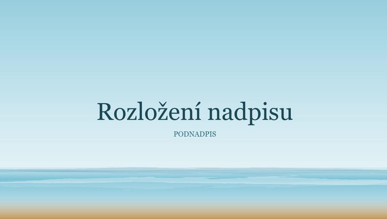Prezentace s namalovaným oceánem (širokoúhlý formát)