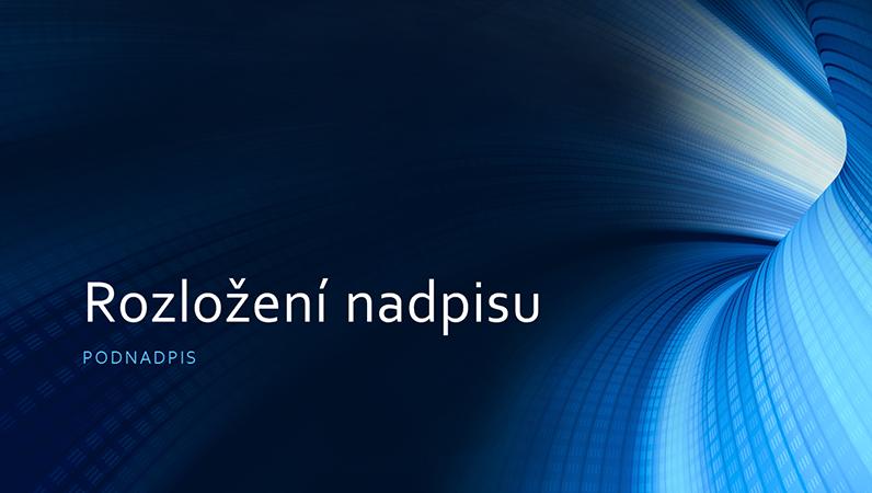 Firemní modrá prezentace s digitálním tunelem (širokoúhlá)