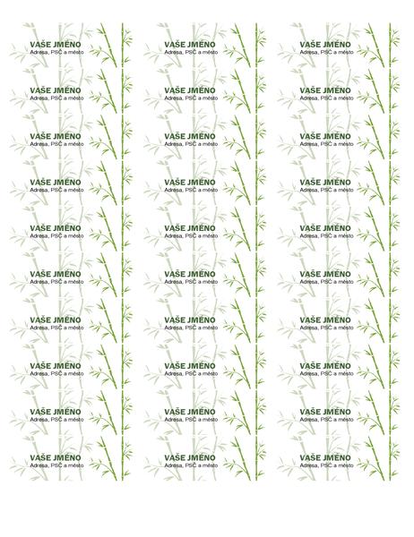 Adresní štítky (bambus)