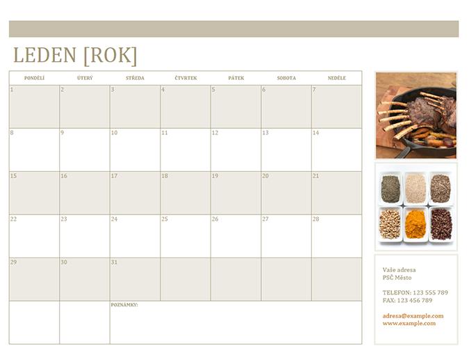 Fotokalendář (pondělí–neděle)