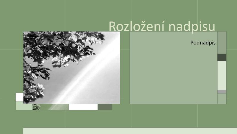 Roční období na šedozelených snímcích