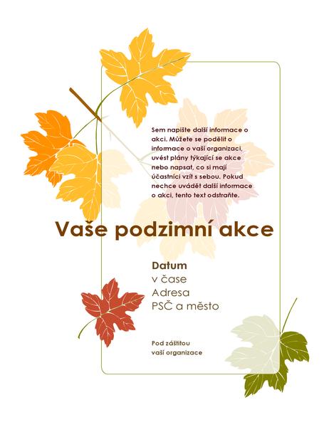 Leták o podzimní akci (s listy)