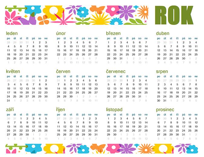 Hravý kalendář na libovolný rok