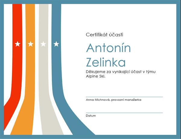 Diplom za účast