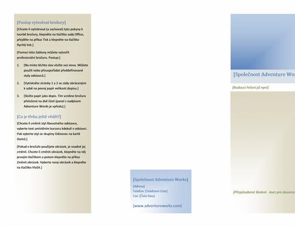 """Brožura (8 1/2 x 11 """", na šířku, složeno na polovinu)"""