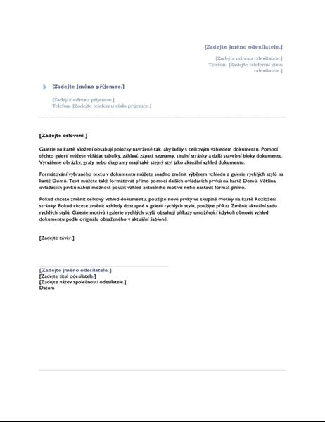 Dopis (výchozí návrh)