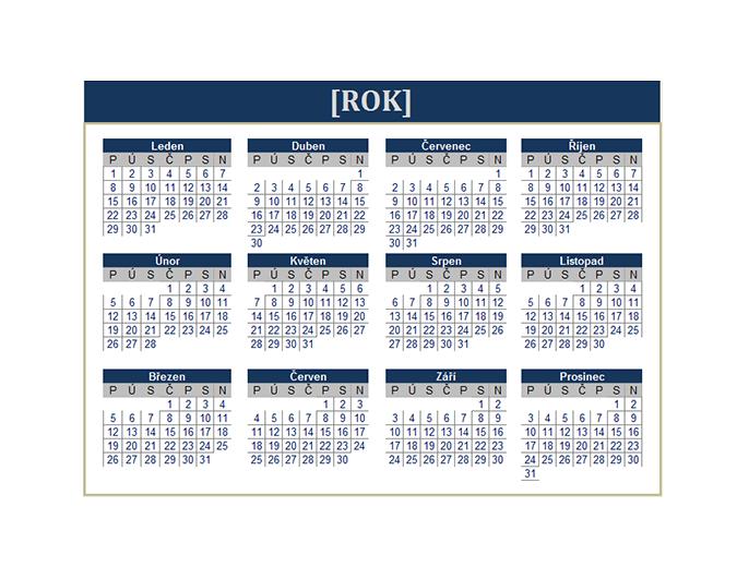 Kalendář (libovolný rok)