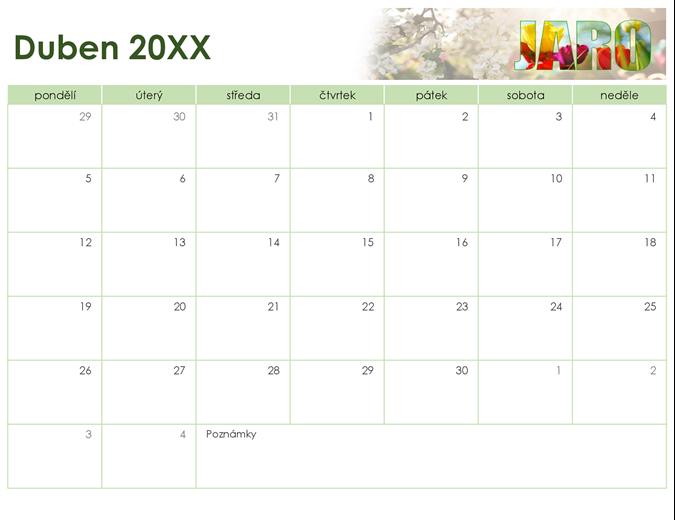 Sezónní kalendář s fotkami