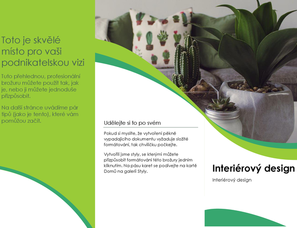 Brožura interiérový design