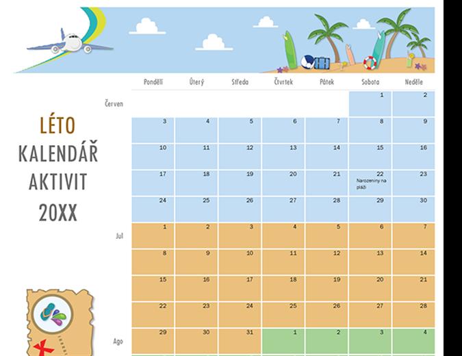 Kalendář letních aktivit