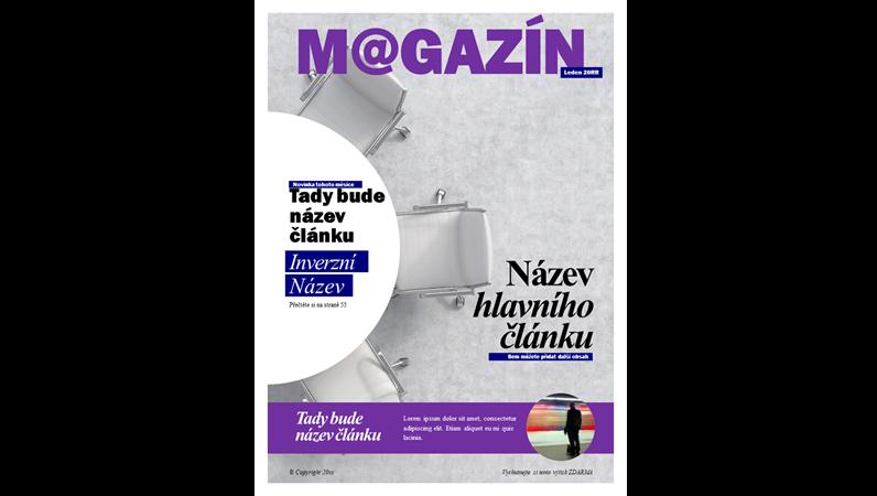 Titulní stránky společenského časopisu