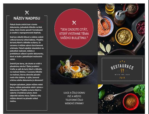 Restaurační brožura