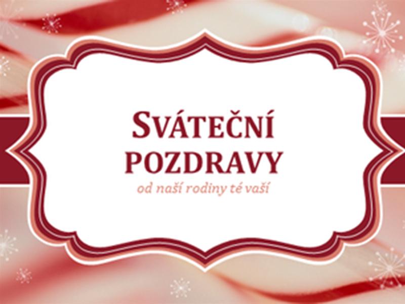 Vánoční přání s lízátkem ve tvaru hůlky (2 na stránku)