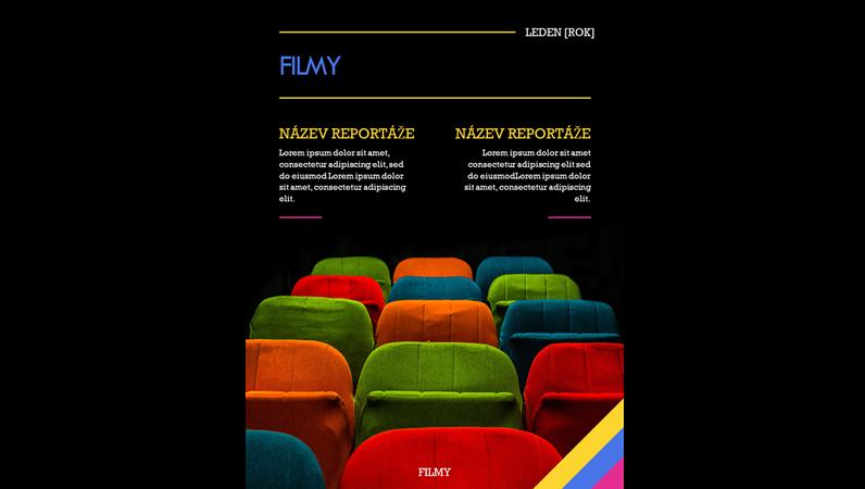 Titulní stránky časopisu o filmech