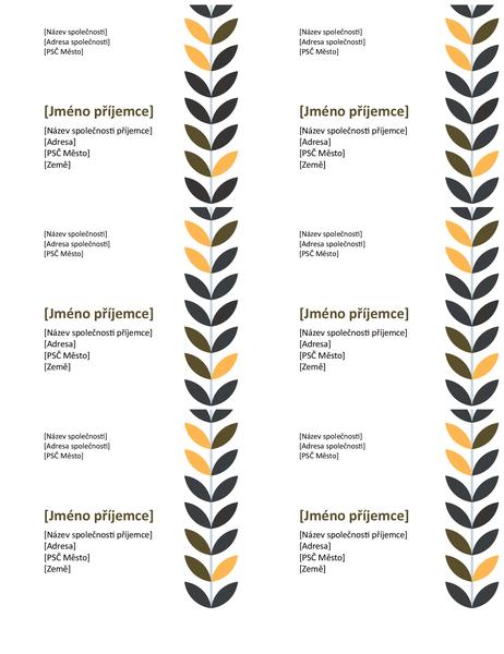 Vínové štítky (6 na každé stránce)