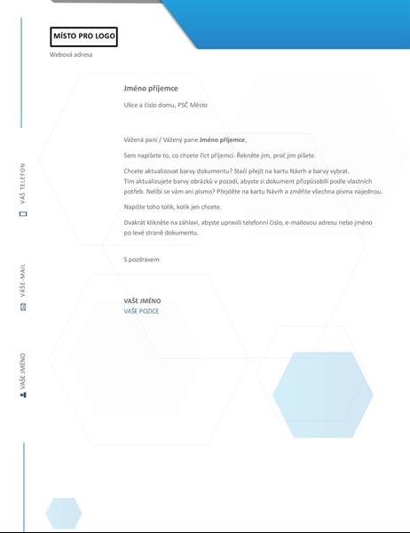 Hlavičkový papír s šestiúhelníkem