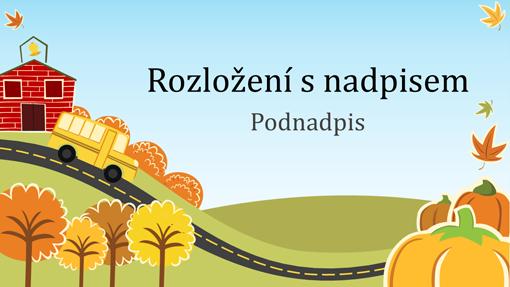 Zábavná vzdělávací prezentace v podzimním ladění (širokoúhlá)