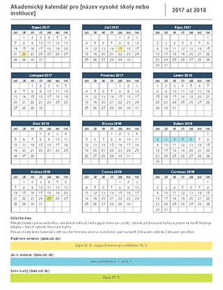 Akademický kalendář pro rok 2017–2018