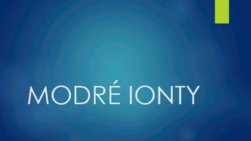 Modré ionty