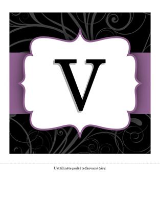 Výroční nápis – (design s fialovou stuhou)